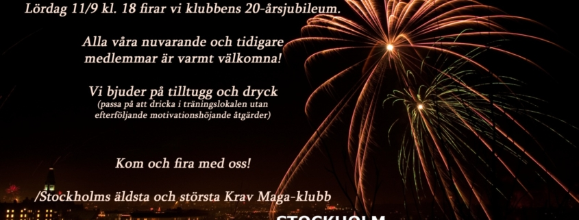 Stockholm Krav Maga Center firar 20 år!